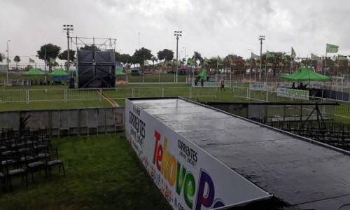 El mal clima obligó a suspender la segunda jornada del Tekoverano