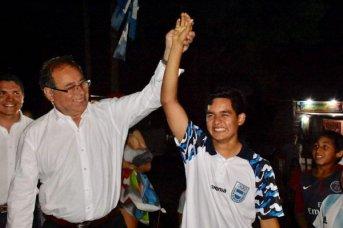 Eduardo Tassano participó del emotivo recibimiento al pesista olímpico Jonatan Leyes
