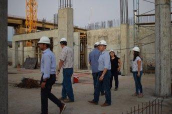 Recorrieron la obra en construcción del complejo hotelero y salón de convenciones