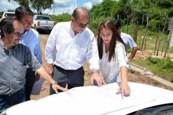Supervisaron obras trascendentales de mejoramiento barrial en el Bañado Sur