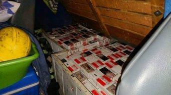 Secuestran más de 8.000 atados de cigarrillos de contrabando