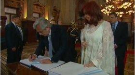 Alberto Fernández y Cristina Kirchner juraron como Presidente y Vice