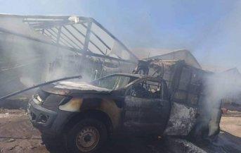 En la zona rural de Cecilio Echeverría un móvil sanitario ardió en segundos